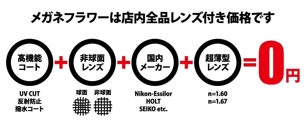 レンズ0円